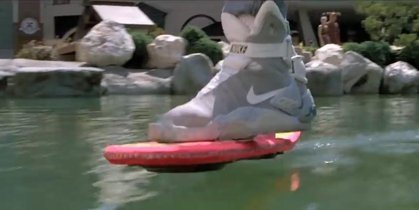 Le Hoverboard dans le filme culte Retour vers le futur 2